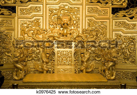 Stock Image of Emperor's Throne China k0976425.