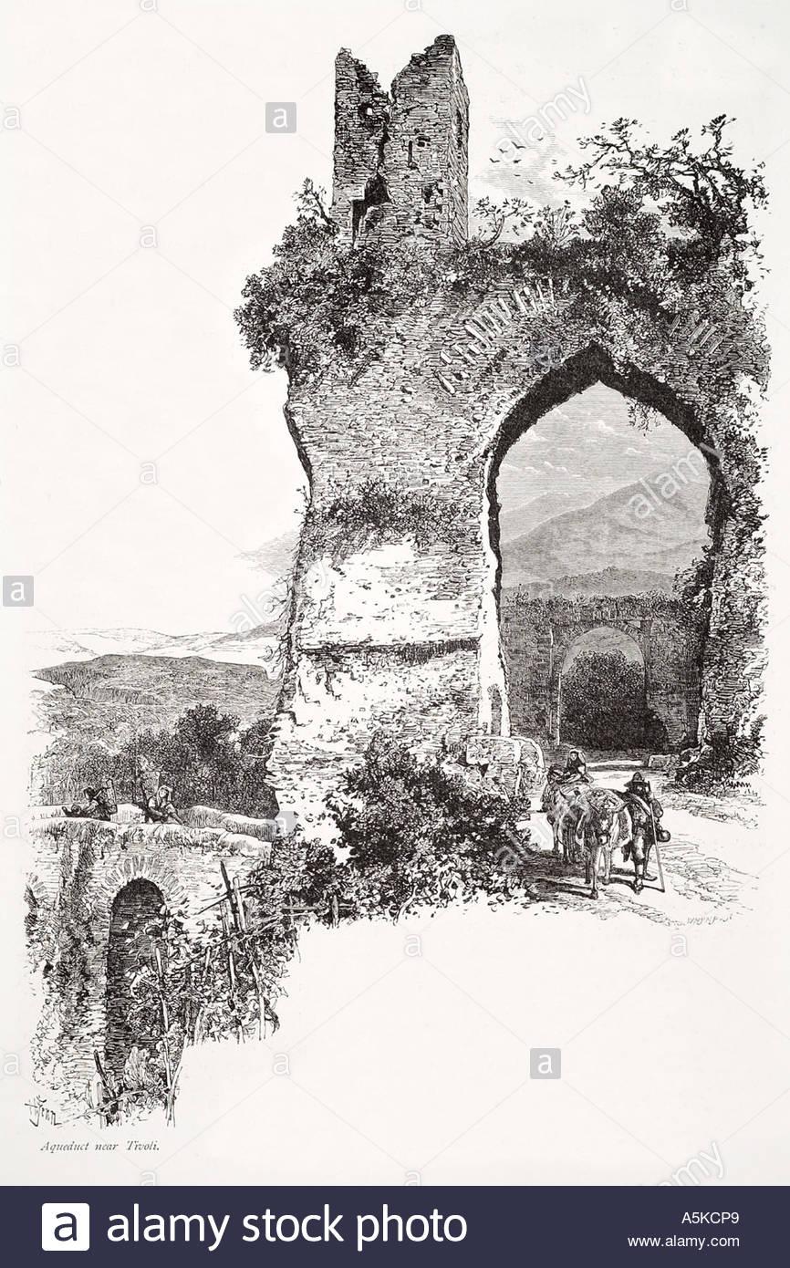 Aqueduct Tivoli Empire Rome Roma Italy Italian Italia Water Arch.