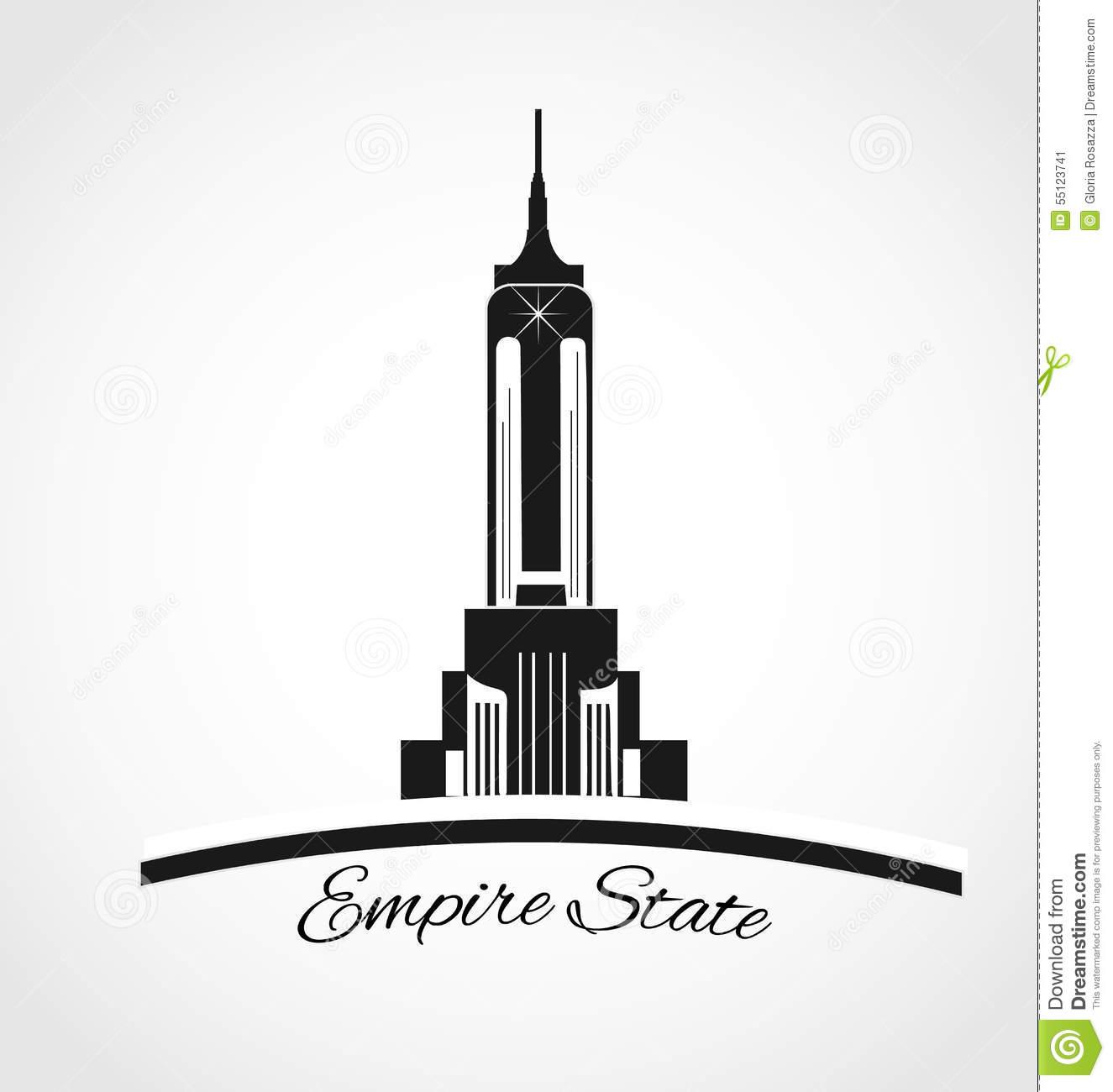 Empire State Building Logo Stock Illustration.