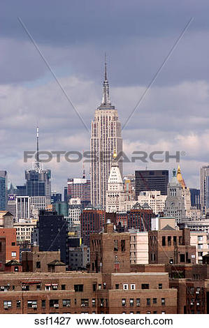 Picture of View of Midtown Manhattan including the Empire State.