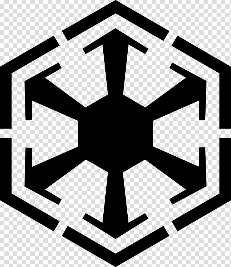Sith empire logo, hexagonal logo transparent background PNG.