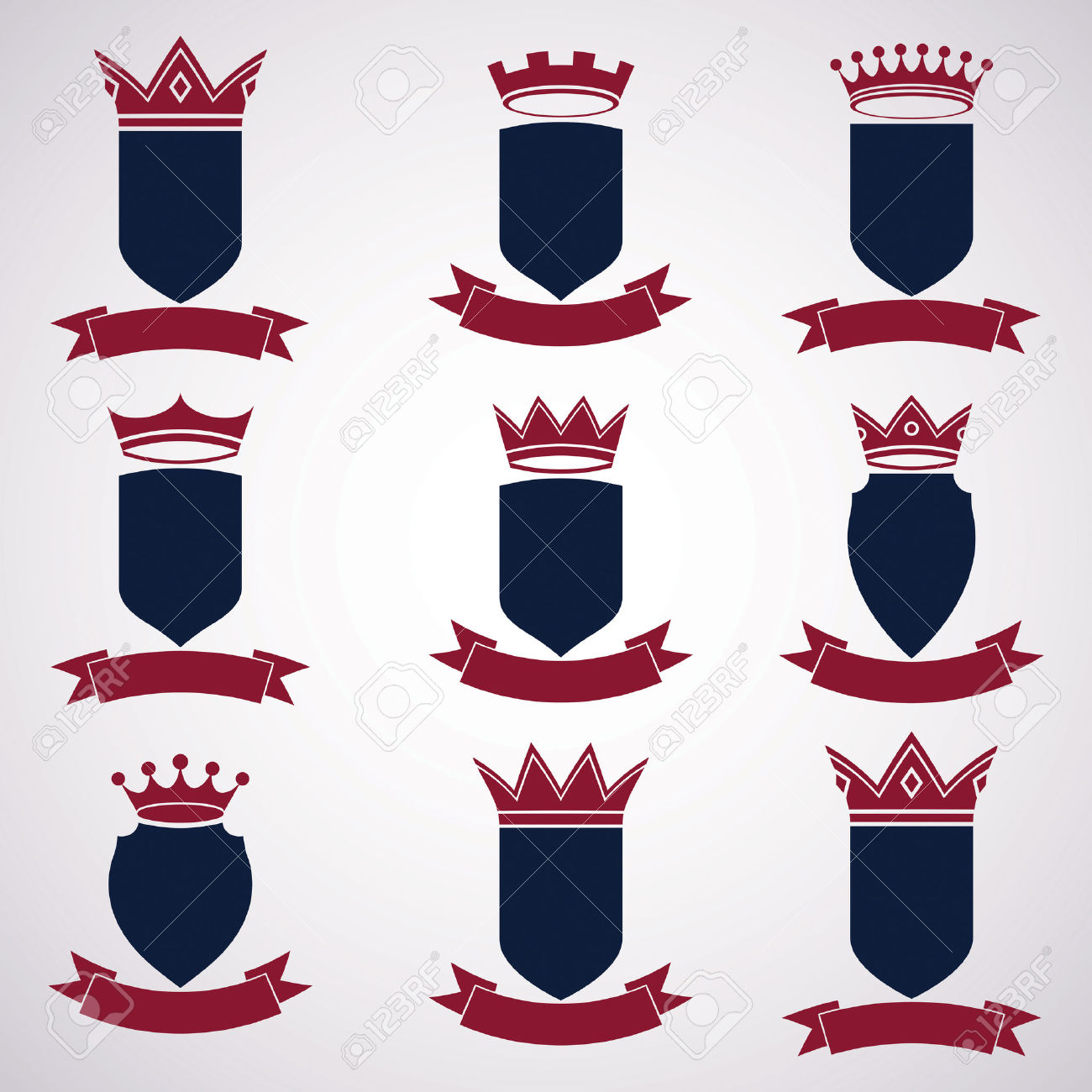 Collection Of Empire Design Elements. Royalty Free Cliparts.