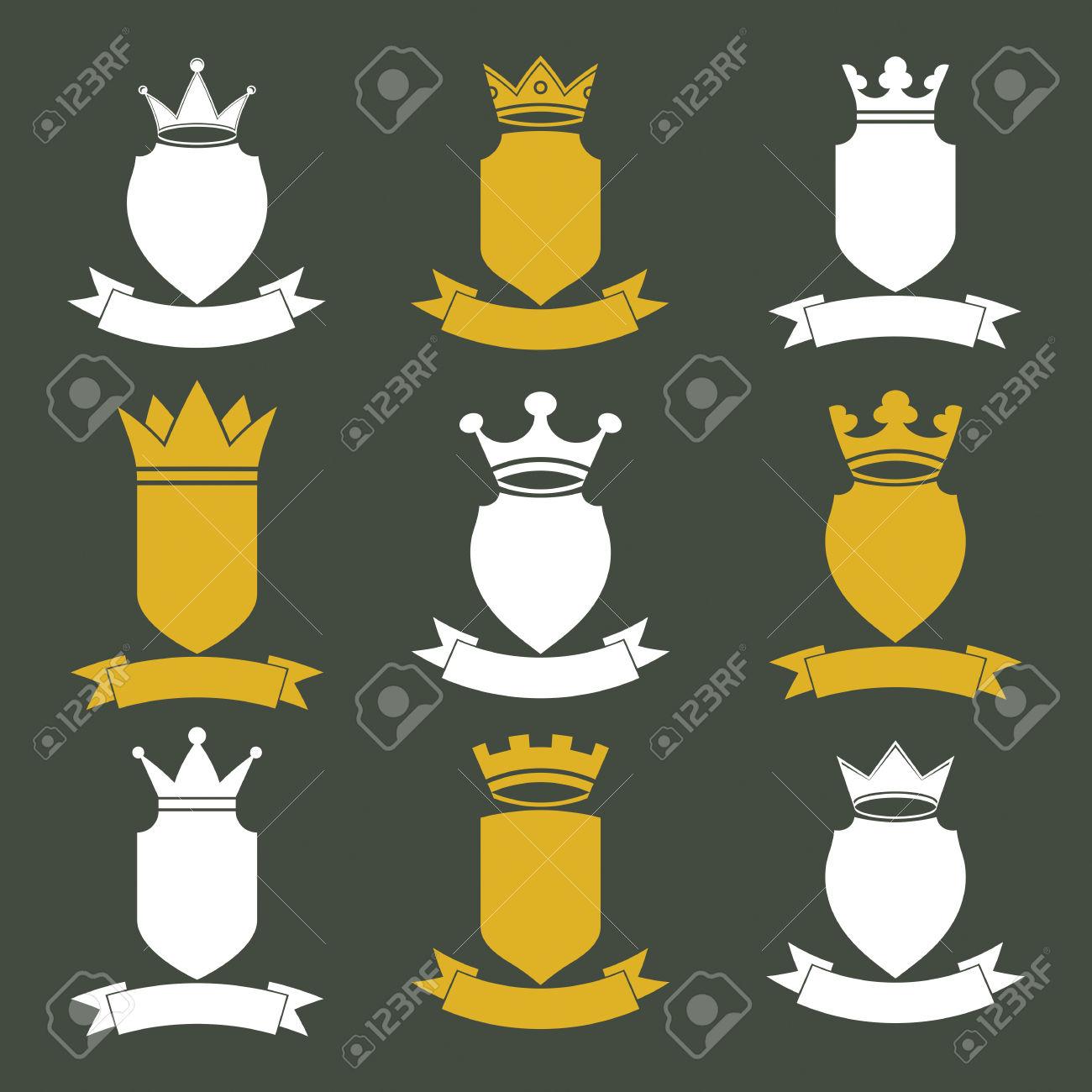 Collection Of Empire Design Elements. Heraldic Royal Coronet.