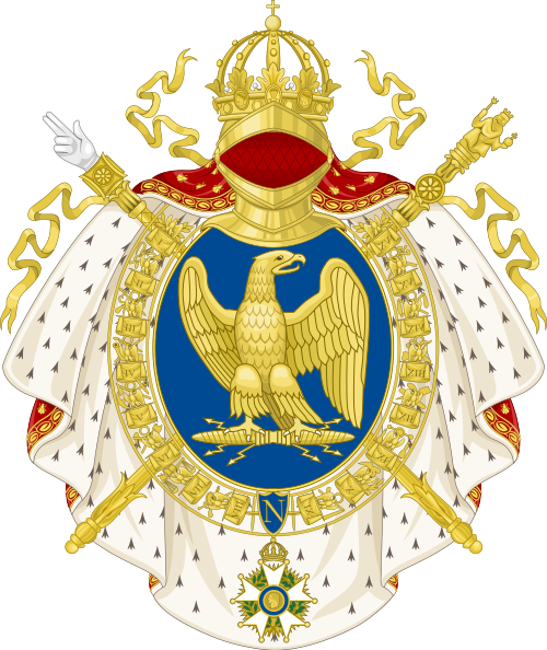 File:Coat of arms of the First French Empire, round shield version.