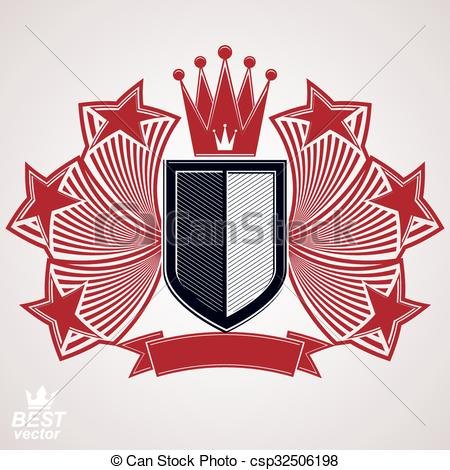 EPS Vectors of Empire stylized vector graphic symbol. Shield with.