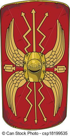 Vectors of Roman Shield.