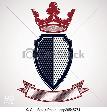 Clip Art Vector of Empire design element. Heraldic royal coronet.
