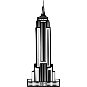 Art Deco Empire State Building clipart, cliparts of Art Deco Empire.