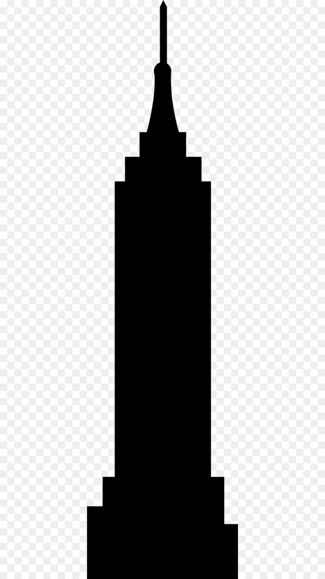 Empire State Building Empire State Building Silhouette Vector Logo.