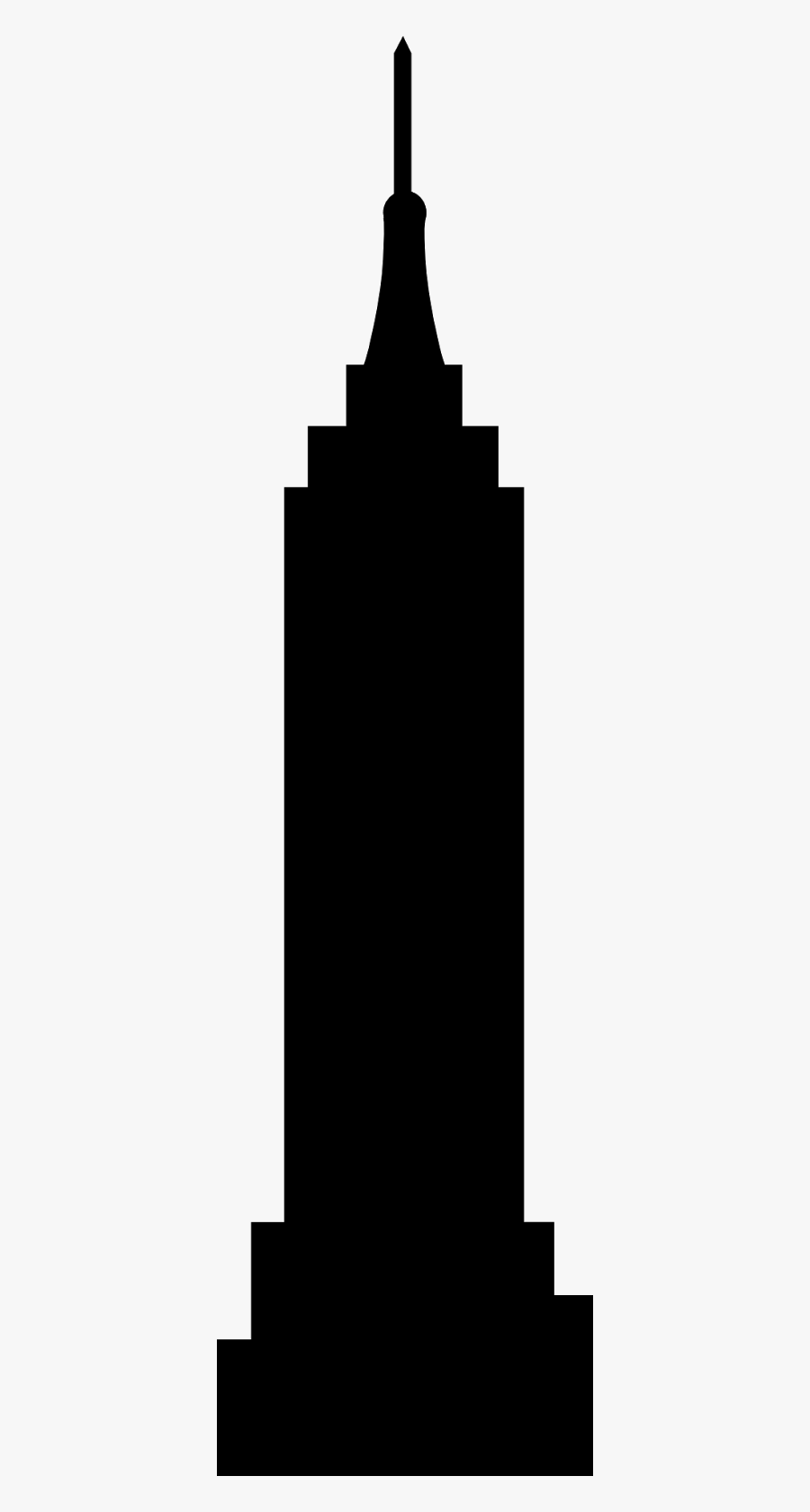 Empire State Building Silhouette Clip Art.