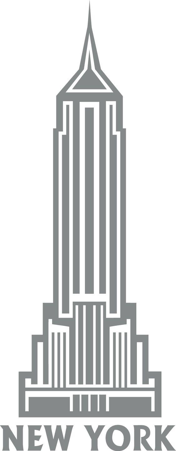Empire state building clip art.