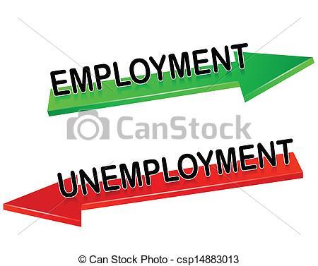 Vector Clip Art of unemployment, employment csp14883013.