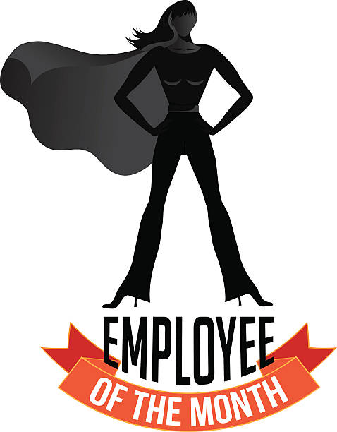 Best Employee Of The Month Illustrations, Royalty.