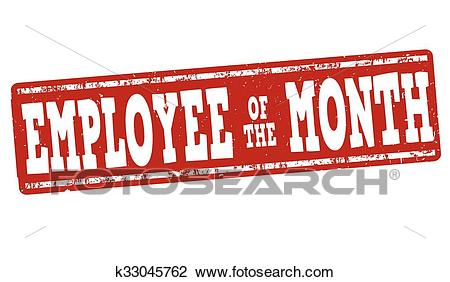 Employee of the month stamp Clipart.