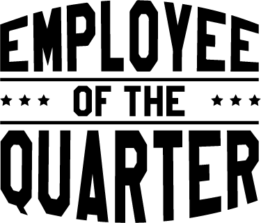 Employee of the Quarter Wall Sticker.