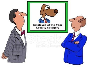 Employee of Year Clipart Image.
