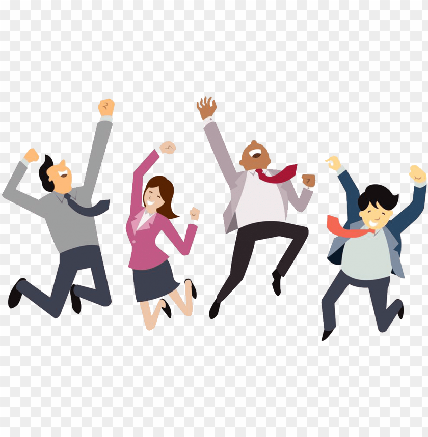 happy employees PNG image with transparent background.