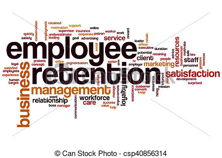 Clipart of Employee retention word cloud concept csp40856314.