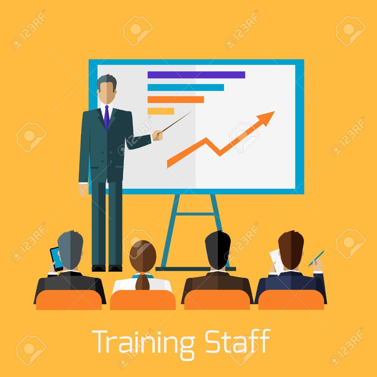 Training staff briefing presentation. Staff meeting, staffing...