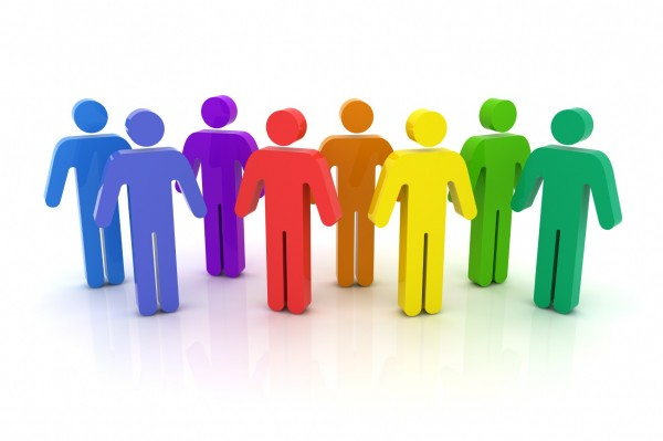 Group of employees clipart.