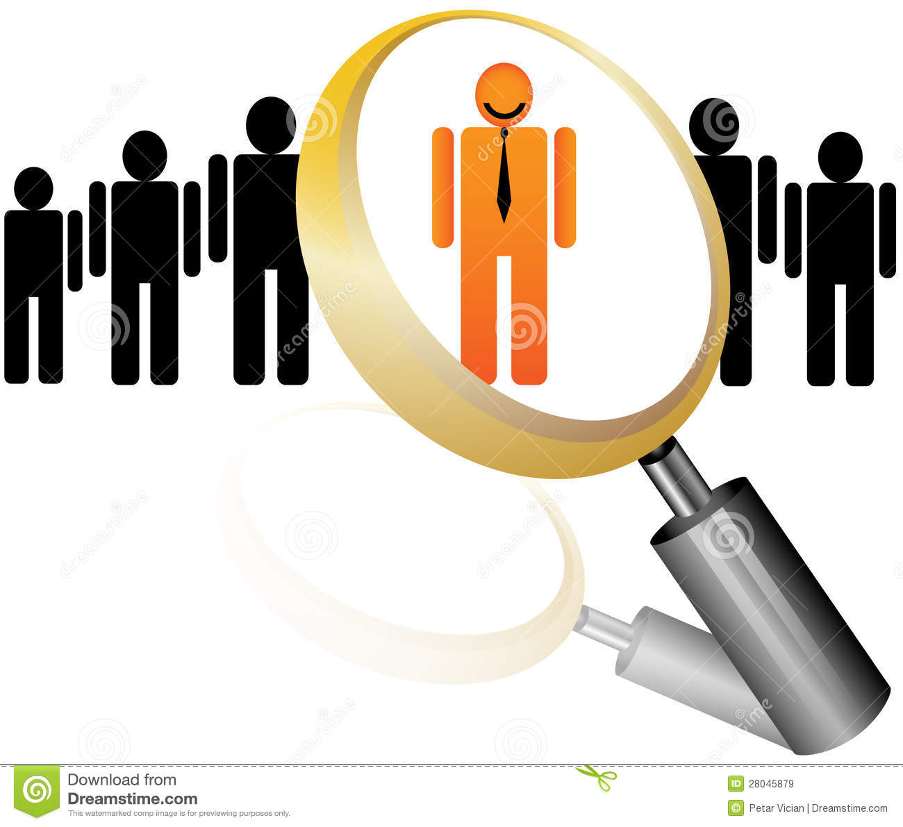 Employee Icon For Recruitment Agency Royalty Free Stock Images.