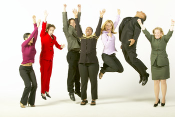Happy Employees Clipart.