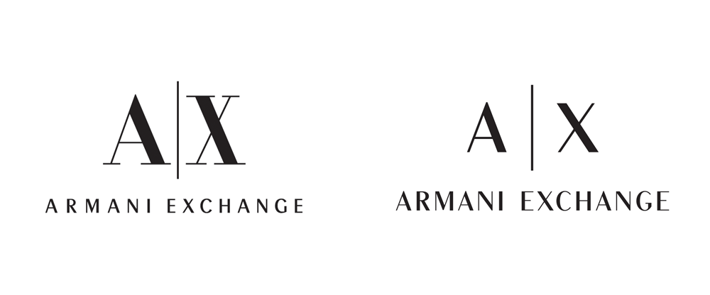 Brand New: New Logo for Armani Exchange done In.