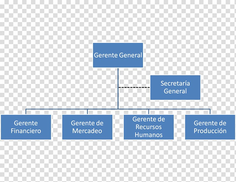 Organizational chart General Manager Empresa, trs transparent.