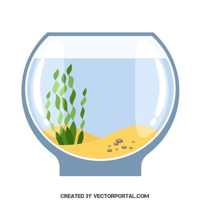 Empty aquarium vector image.
