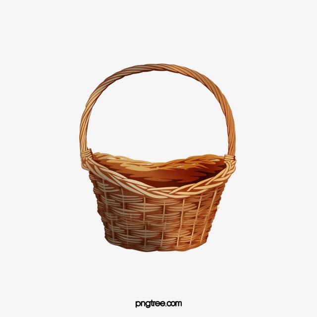 Basket, Clipart, Empty Basket PNG Transparent Clipart Image and PSD.