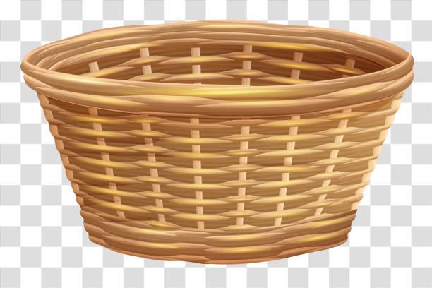Best Straw Basket Illustrations, Royalty.