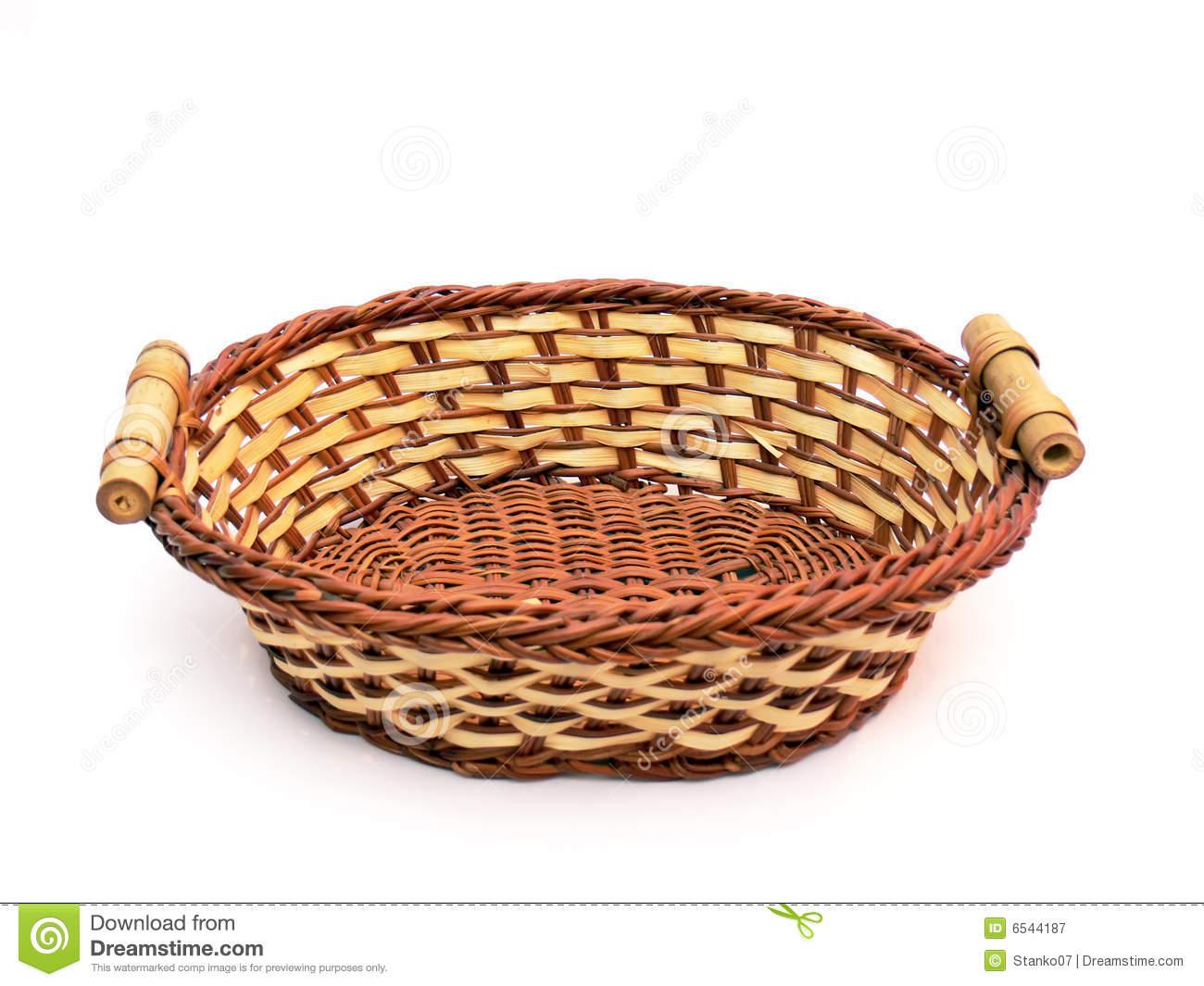 Empty Fruit Basket Clipart.