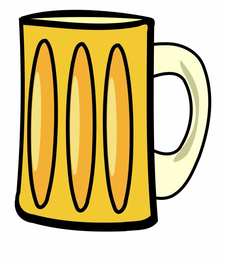 Beer Beverage Glass Empty Mug Png Image.