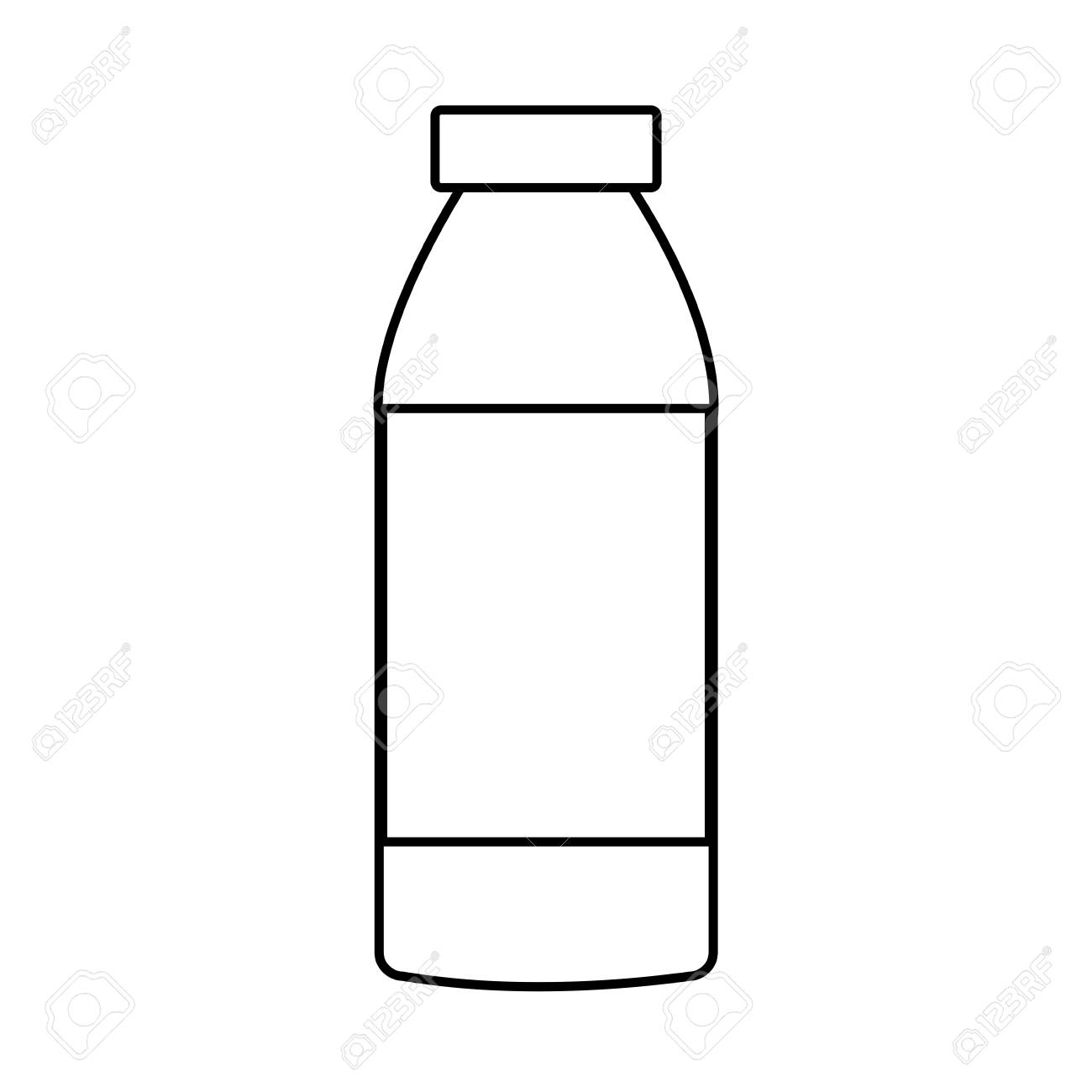Empty bottle isolated icon vector illustration, graphic design..