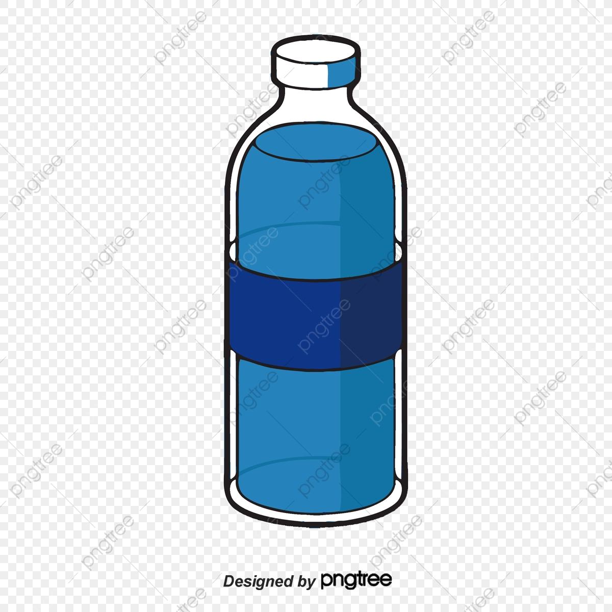 Empty Bottle, Bottle Clipart, Blue, Water Bottle PNG Transparent.