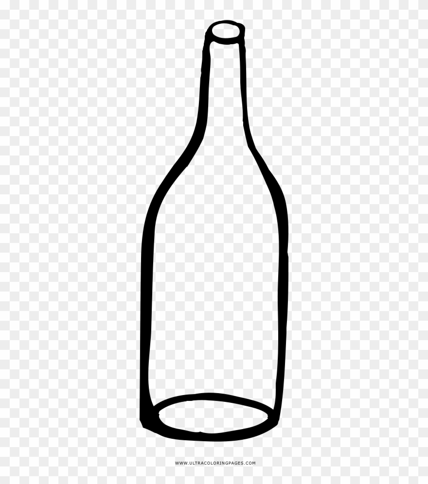Empty Bottle Coloring Page.