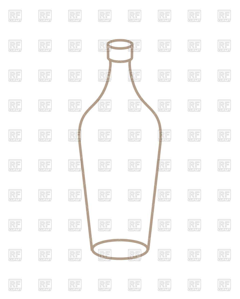 Empty bottle outline Stock Vector Image.