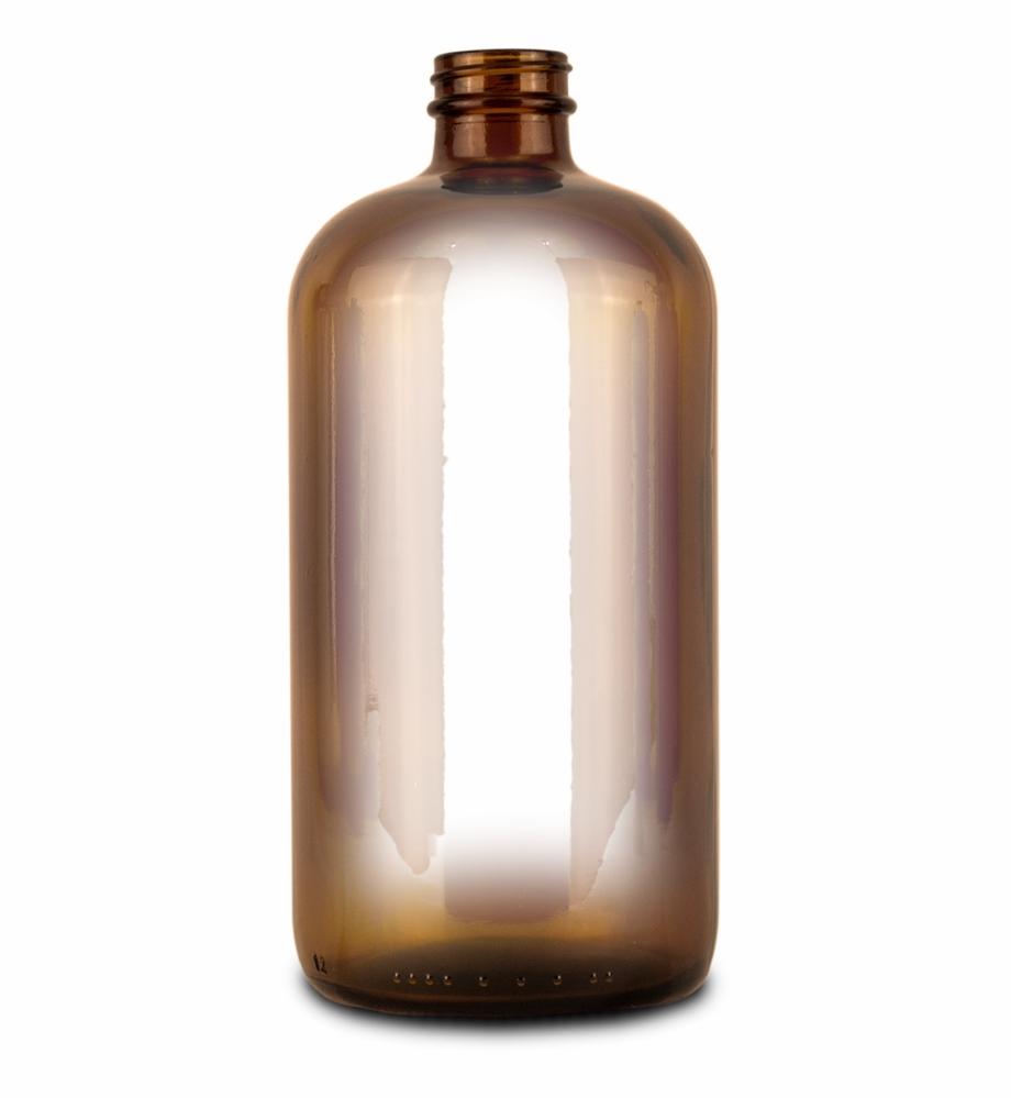 Empty Amber Glass Bottle For Essiac Tea Storage.
