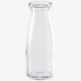 Empty Milk Glass Bottle.
