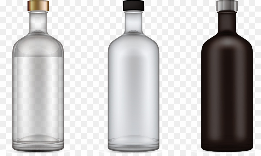Empty Glass Bottle PNG White Wine Clipart download.