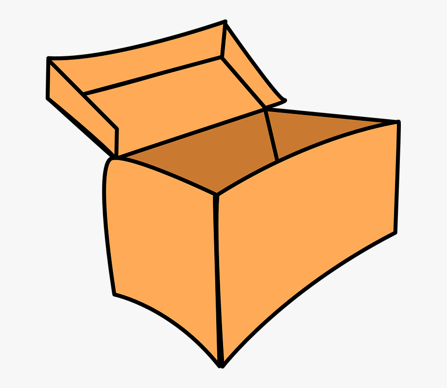 Clipart Of Box, Empty Box Open And Brown Paper #446001.
