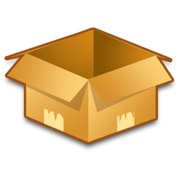 open empty box png image.
