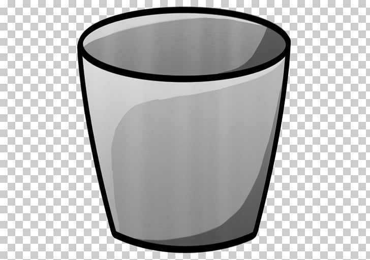 Angle cup cylinder glass, Bucket Empty, gray cup.