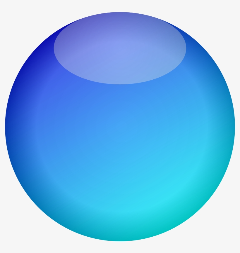 Free Empty Button Blue PNG Image.