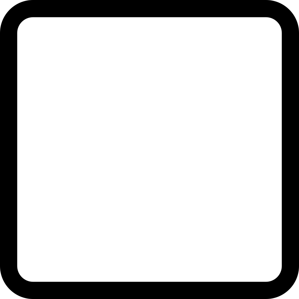 Square Rounded Empty Outlined Button Shape Svg Png Icon Free.