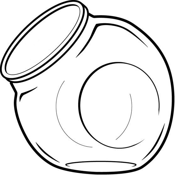 Empty Candy Jar Clipart.