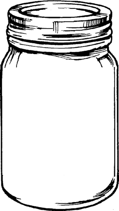 Empty mason jar clipart.