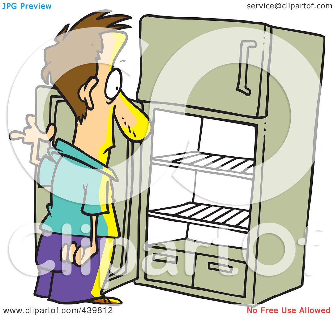 Empty refrigerator clipart.