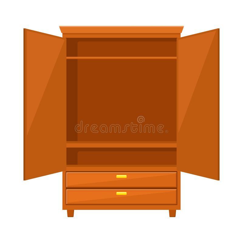 Empty Wardrobe Stock Illustrations.