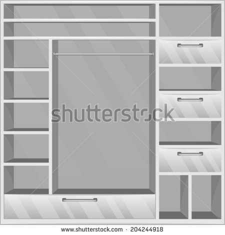 Empty Closet Outline Clipart Clipground